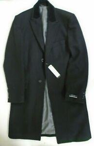 Men's Black Overcoat Pierre Cardin Size L Wool Blend New With Tags