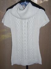 BCBG Max Azria Cream Wool Blend Knit Turtleneck Sweater Dress Misses Medium