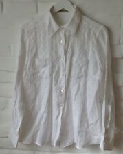 Ermanno Scervino Damen Shirt Weiss Linen Gr.M Made In Italy!