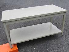 Ancien mobilier de bureau - Table basse en acier ( H: 50 cm - 102 x 50 cm )  (2)