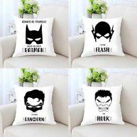 Throw Pillow Case Printed Cartoon Superhero Cushion Cover Home Decoration Gift