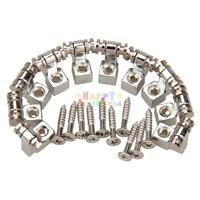 10Pcs Chrome Roller String Trees Retainer Fender Electric Guitar Parts New