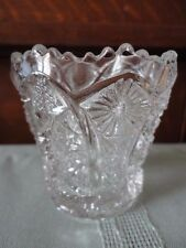 Imperial Glass Daisy & Button Toothpick holder CLEAR Vintage