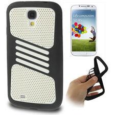 2-teiliges Case Schutzhülle für Samsung i9500 Galaxy S4 schwarz weiß Hülle Cover
