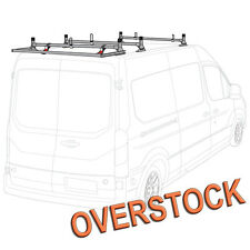 H1 3 Bar Aluminum Rack System (Silve) with Roller (Silver) for Transit Cargo Van