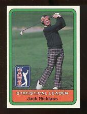 1981 Donruss JACK NICKLAUS Statistical Leader GOLF Card
