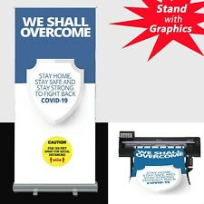 24x40standard Retractable Roll Up Banner Stand Graphics Printed With Fabric