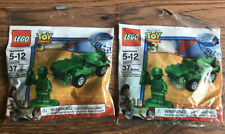 SEALED Lot of 2 LEGO Toy Story 3 - Army Jeep & Soldier Minifigure Polybag 300071
