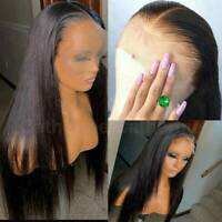 Pre Plucked Straight Lace Front Wig 9A Indian Virgin Human Hair Full Lace Wig Js