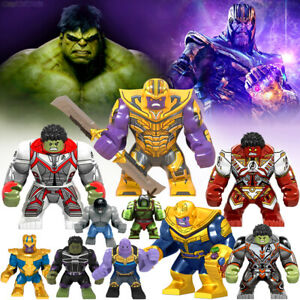 Avengers Minifigures Thanos Hulk Super Hero Action Figure Custom Block Toys MOC