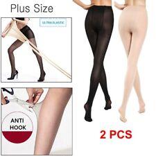 Super Elastic Magical Tight Silk Stockings Sexy Leg Pantyhose Plus Size Women US
