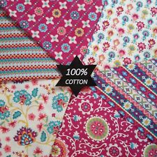 PATCHWORK NEW FABRIC Brocade Damark Floral 100% Cotton POPLIN Material Quilting
