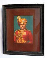 Indian Royal Decorative Collectible Rare Sadul singh portrait Painting. i54-21