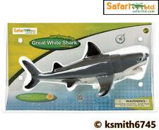 """Safari 12"""" Snap squalo bianco giocattolo di plastica degli animali selvatici Pesci Mare * NUOVA * 💥"""