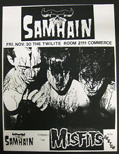 SAMHAIN Twilite Room DALLAS 1984 CONCERT FLYER Misfits DANZIG Punk VG+