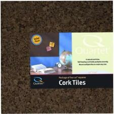 "Quartet Cork Tiles 12"" X 12"" Corkboard Mini Wall Bulletin Boards Dark Durable Ne"