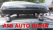 BOX AUTO PORTABAGAGLI G3 HELIOS 400+BARRE PORTATUTTO FIAT PUNTO 5P 2013 OMOLOGAT