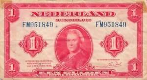 Netherlands 1 Gulden 1943 P-64