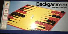 VINTAGE BACKGAMMON AND ACEY-DEUCY BOARD GAME - 1973 EDITION - NEW & SEALED