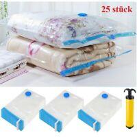 25 × Vakuumbeutel Aufbewahrungsbeutel Vacuum Vakuum Beutel für Bett und Kleidung