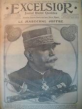 WW1 N° 2235 MARECHAL JOFFRE PRISE DE MONASTIR BEZONVAUX JOURNAL EXCELSIOR 1916