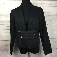 Cabi Womens 8 Jack Black Fitted Military Blazer Coat Steampunk Cotton