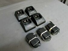 Lot of 4 Motorola Rpx4747A Battery Charging Stands for Ht-1000 with 3 Chargers