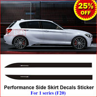 2pcs M Performance Side Skirt Stripe Decals Vinyl Sticker for BMW 1 Series F20