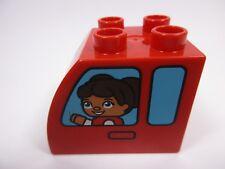 LEGO DUPLO 11344 - Brique Arrondie Brick 2x3x2 Curve Fenêtres Voiture set 10816