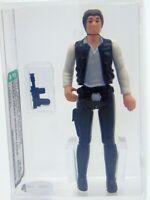 1977 Star Wars Loose Han Solo, Small Head Molded Legs HK, AFA Graded 75+ EX+/NM