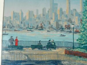 HARRY SHOKLER ARTIST SERIGRAPH OF CITYSCAPE
