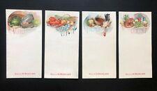 Lot de 4 menus 1900 Biscuits de Beukelaer - Art Nouveau