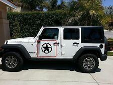 2x Decal sticker For Jeep Wrangler RUBICON Army Star on doors upgrade kit stage