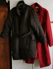 LADIES USED COATS, GEORGE ASDA AND AUTOGRAPH MARKS AND SPENCER, SIZE 22, XL.
