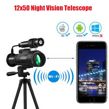12x50 Wifi Night Vision Monocular Telescope for Hunting Camping Night Watching