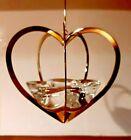 CHRISTMAS HEART. 2005 Annual Golden Christmas Candleholder votive Holmegaard Box