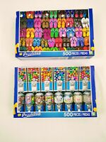 """Puzzle Bug Lot Of 2 Jigsaw Puzzles """"Sweet Machines"""" """"Flip Flops!"""" Factory Sealed"""