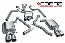 AU57 cobra Exhaust FIT AUDI S5 3.0 TFSI Coupe 09 > Catback SYS RES no