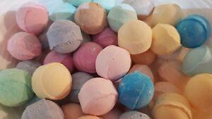 Mini Scented Bath Bomb Marbles Chill Pills Relax Fizzies Wedding Gift FULL RANGE