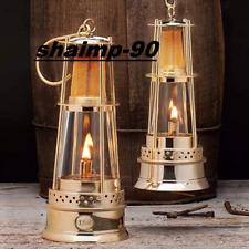 10''Solid Brass Miner Oil Lamp Nautical Maritime Ship Lantern