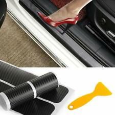 4x 3D Carbon Fiber Car Door Sill Scuff Panel Step Protector Cover Sticker & Tool