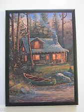 Cabin Rustic Lodge Style Wall Sign country plaque cute little picture boat water