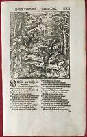 THEUERDANK&THE EMPEROR MAXIMILIAN WILD BOAR HUNTING woodcut between 1563 &1596