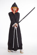 Bleach Kurosaki Ichigo Black Robe hooded cape Cosplay costume
