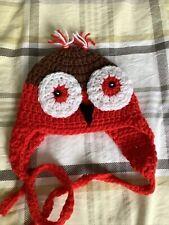Hand Crochet Newborn Owl Hat