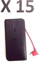 LOT 15 OEM Motorola Portable Slim External Battery Charger Power Pack P2000 Blak