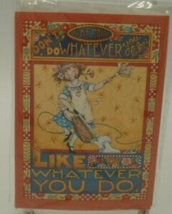 Mary Engelbreit Like Whatever You Do Notecards, Stationery, Set of 8, NEW