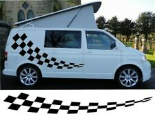 VAN CHEQUERS KIT 2 CAMPERVAN GRAPHICS DECALS STICKERS VITO TRANSIT SPRINTER