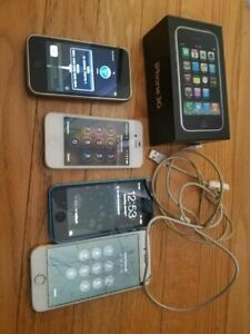 4 pcs Used Apple iPhone Cellphone Lot- READ DETAILS (icloud on)