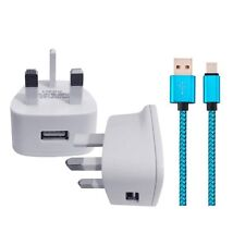 SAMSUNG GALAXY S8 PHONE REPLACEMENT WALL CHARGER & USB 3.1 DATA SYNC LEAD
